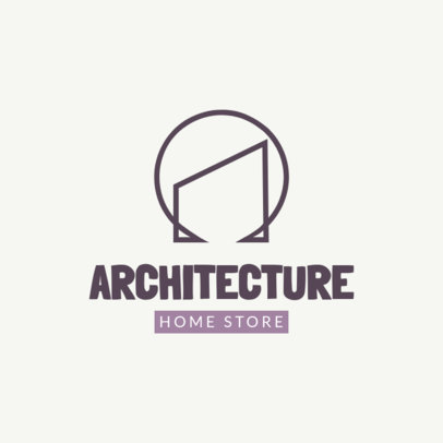 Abstract Logo Template for an Interior Design Store 3989a