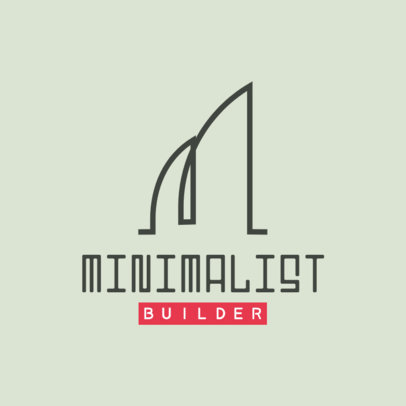 Minimalistic Logo Maker for an Architecture Firm Featuring Abstract Graphics 3989c