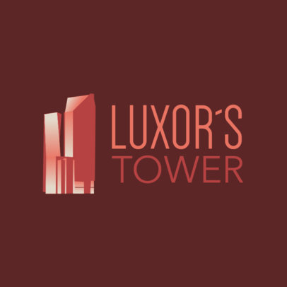 Real Estate Logo Template Featuring a Tall Building Graphic 3988b