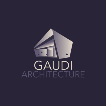 Logo Template for an Architecture Firm Featuring a Modern Building Clipart 3988d