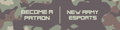 Patreon Cover Design Template Featuring a Camouflage Background 3389a-el1