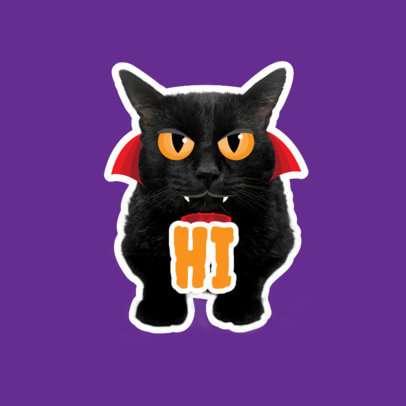 Twitch Emote Logo Generator Featuring an Angry Vampire Cat Clipart 3983b