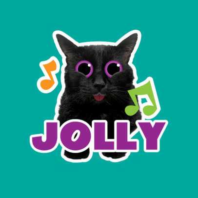 Twitch Emote Logo Generator Featuring a Joyful Cat Clipart 3983e