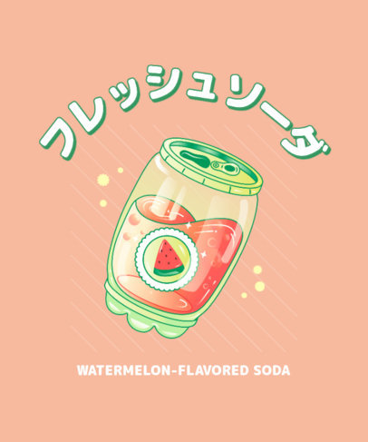 T-Shirt Design Creator with a Graphic of a Japanese Apple Juice 3314b