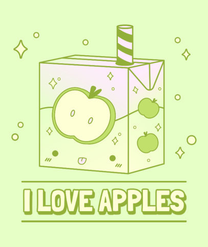 Illustrated Tote Bag Design Maker Featuring a Cute Apple Juice Box 3315c