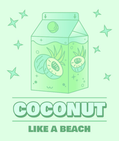 Tote Bag Design Creator with a Kawaii Coconut Water Box Graphic 3315d