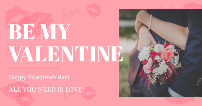 Facebook post Template for a Romantic Valentine's Day Promo 3301h