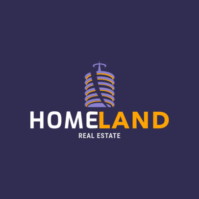 Real Estate Logo Generator with a Contemporary Building Graphic 3991Q