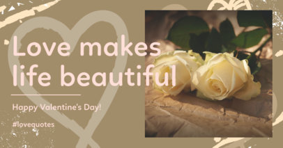 Facebook Post Maker for a Lovable Valentine's Day Quote 3301b