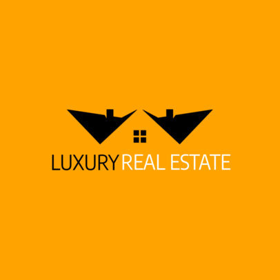 Real Estate Logo Maker Featuring Negative Space Graphics 3990f