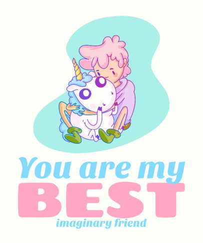 T-Shirt Design Maker Featuring Colorful Unicorn Cartoon Characters 3317