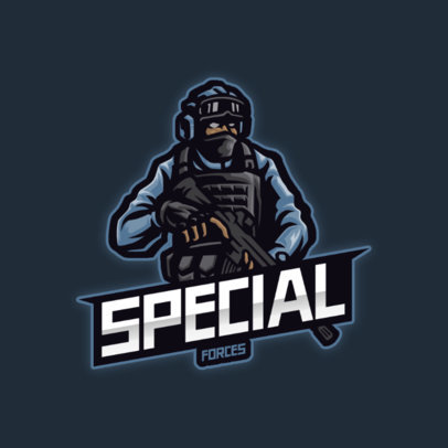 Military-Themed Gaming Logo Maker Featuring a Shooter Character 3456d-el1