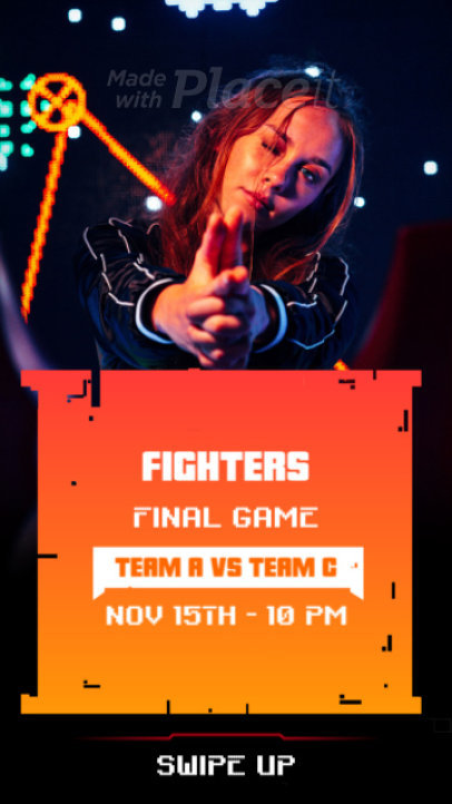 Cool Instagram Story Video Maker for a Gaming Match Announcement 2549-el1