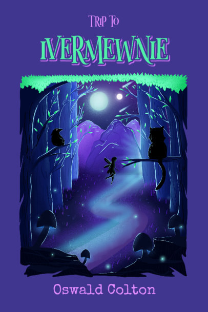 Fantasy Book Cover Generator Featuring a Dark Forest Illustration 4008d