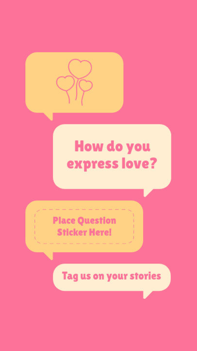 Instagram Story Maker Featuring a Question and Valentine's Day Icons 3458e-el1