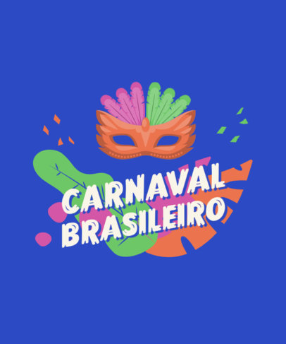 Quote T-Shirt Design Generator Featuring Rio Carnival-Inspired Graphics 3454c-el1