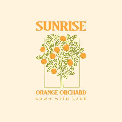 Logo Template for an Organic Fruit Brand 4009d