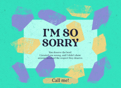 Greeting Card Creator Featuring an Apology 3350d
