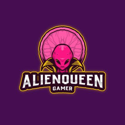 Logo Generator for Gamers Featuring an Alien Queen 3422d-el1