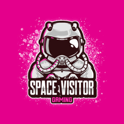 Space-Themed Gaming Logo Generator with an Astronaut Graphic 3426a-el1