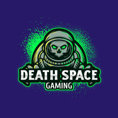 Online Logo Template for Gamers Featuring a Zombie Astronaut 3426d-el1