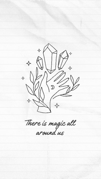 Instagram Story Generator Featuring a Magical Illustration and a Quote 3339e