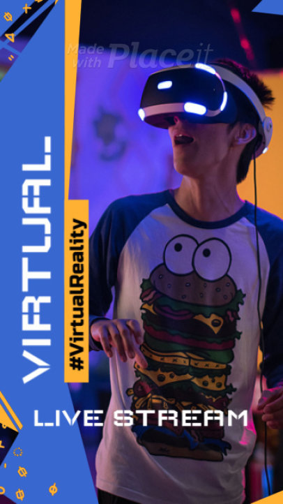 Instagram Story Video Maker for a Virtual Reality Game Stream 2540-el1