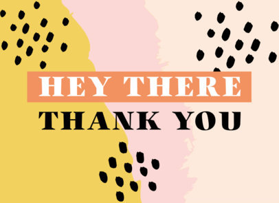 Greeting Card Design Maker with a Thankful Phrase and a Colorful Background 3348g