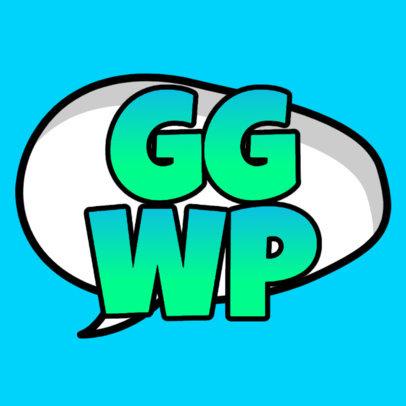Sticker Design Maker Featuring Gaming Slang Acronyms 3446-el1