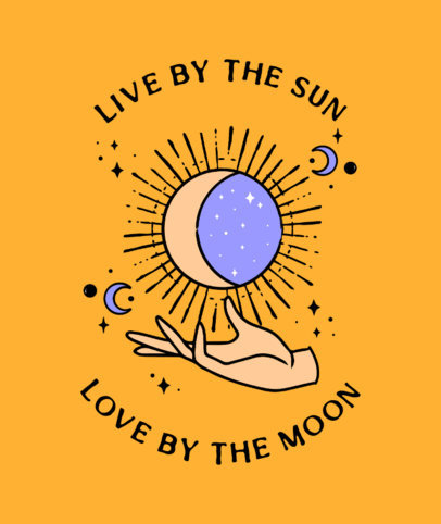 Tote Bag Design Maker Featuring a Sun and Moon Illustration 3338c