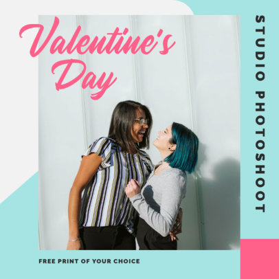 Instagram Post Template to Promote a Valentine's Day Studio Photoshoot 3430b-el1
