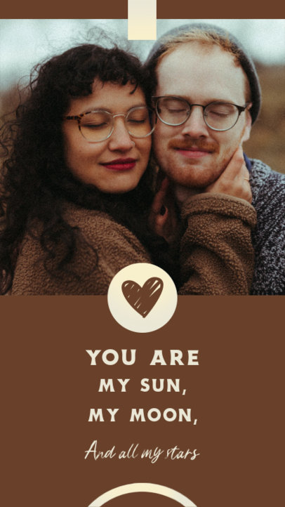 Valentine's Day-Themed Instagram Story Maker with a Love Quote 3434a-el1