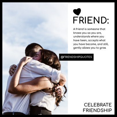 Valentine's Day Instagram Post Template With a Friendship Quote 3438a-el1