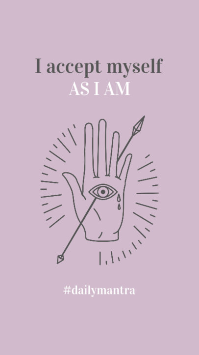 Instagram Story Generator Featuring a Daily Mantra and a Mystical Hand Illustration 3340a