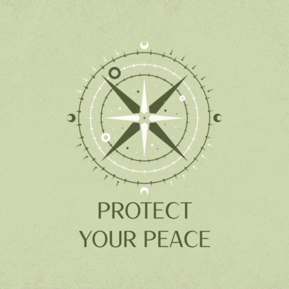 Instagram Post Maker with a Positive Quote and a Compass Rose Graphic 3342f