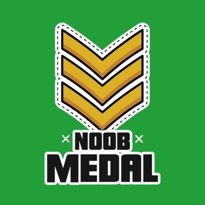 Sticker Design Template Featuring a Beginner Military Medal 3448a-el1