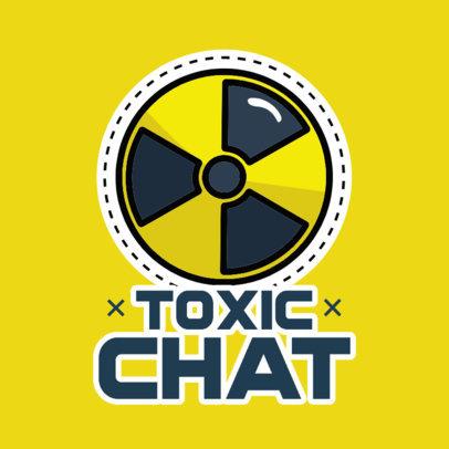 Sticker Design Template Featuring a Radioactive Symbol 3448d-el1