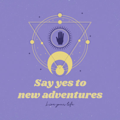 Instagram Post Maker Featuring an Esoteric Illustration and a Quote 3342a