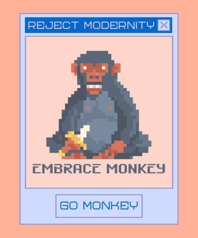 T-Shirt Design Generator with a Funny Monkey Illustration 3355b