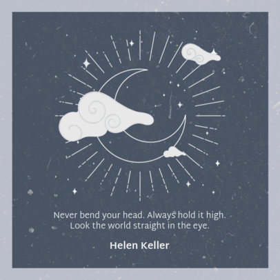 Instagram Post Generator Featuring an Empowering Quote and a Moon Graphic 3341d