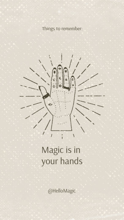 Esoteric Instagram Story Template With a Mystical Hand Illustration 3339i