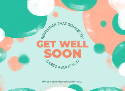 Greeting Card Design Maker Wishing Someone to Get Well 3349a