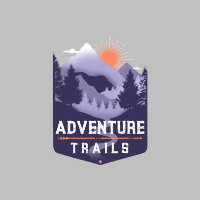 Logo Generator for Hiking Tour Operators Featuring a Landscape Graphic 4024b