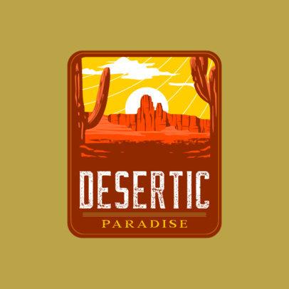 Adventure Travel Logo Generator Featuring an Illustration of a Desert 4024e
