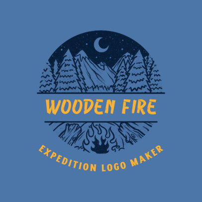 Outdoors Travel Agency Logo Creator with Pine Tree Graphics 4020f
