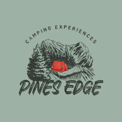 Logo Generator for a Camping Site Featuring a Mountain Landscape 4028k