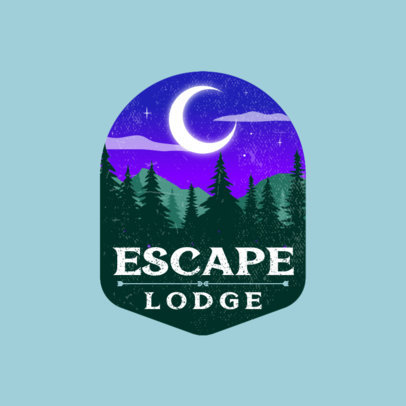 Logo Generator for a Mountain Hotel Featuring a Forest Illustration 4024h