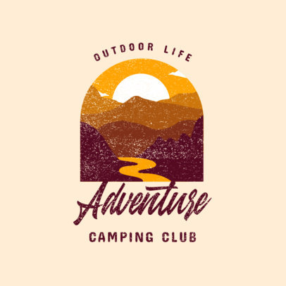 Logo Maker for a Camping Club Featuring a Landscape Illustration 4028b