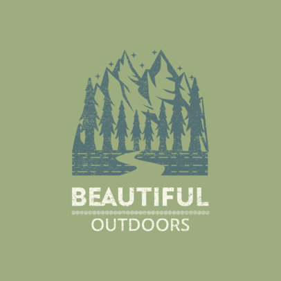 Logo Maker Featuring a Graphic with the Beautiful Outdoors 4018a