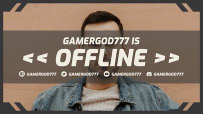 Twitch Offline Banner Maker Featuring a Minimal Frame 3367